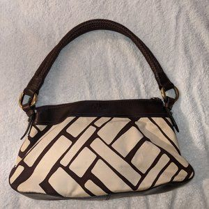 Cole Haan Canvas and Leather Shoulder Bag